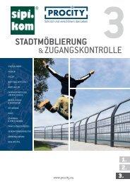Stadtmöblierung & Zugangskontrollen Procity 3 Katalog | SIPIRIT GmbH Kommunalbedarf