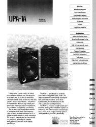 Datasheet - Meyer Sound Laboratories Inc.