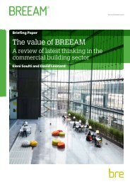 The value of BREEAM
