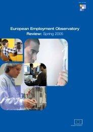 European Employment Observatory Review - PolitiquesSociales.net