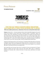 The five-day Men's Fashion Week Singapore 2012 - Marina Bay ...