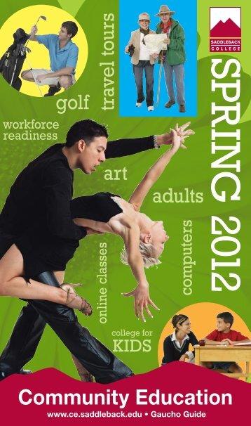 adults travel tours art golf Community Education - Saddleback College