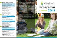 1. Halbjahr 2011 Programm - Mittelhof eV