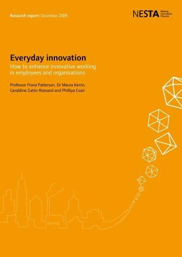 Everyday innovation report - Nesta