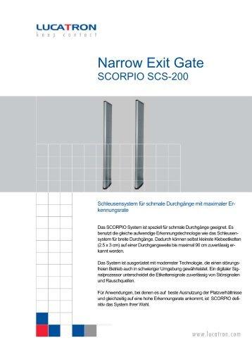 Narrow Exit Gate - bei IQ Technologies