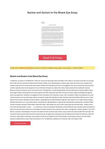 essay on sexism
