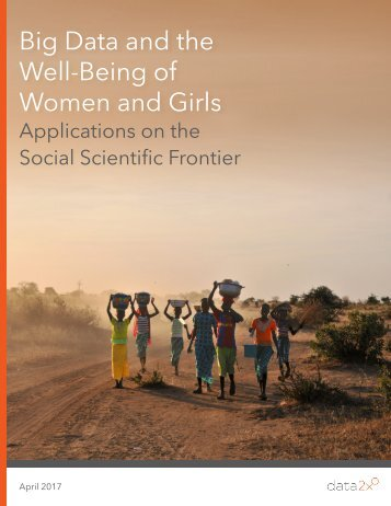 Big Data and the Well-Being of Women and Girls
