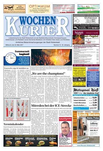 Wochen-Kurier 12/2017 - Lokalzeitung für Weiterstadt und Büttelborn