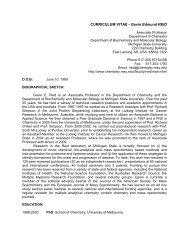 CURRICULUM VITAE - Gavin Edmund REID - Department of ...
