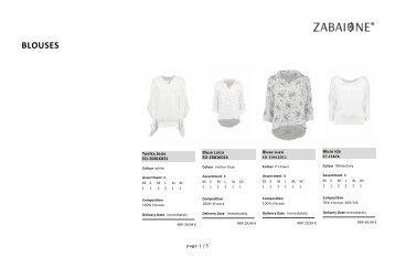 Special Blouse-Zabaione