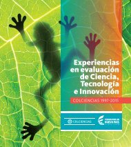 Experiencias en evaluación de Ciencia Tecnología e Innovación