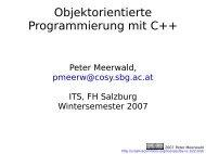Objektorientierte Programmierung mit C++