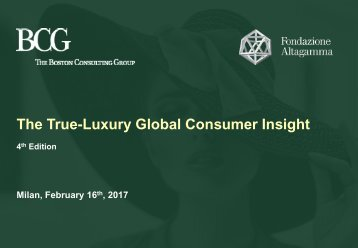 The True-Luxury Global Consumer Insight