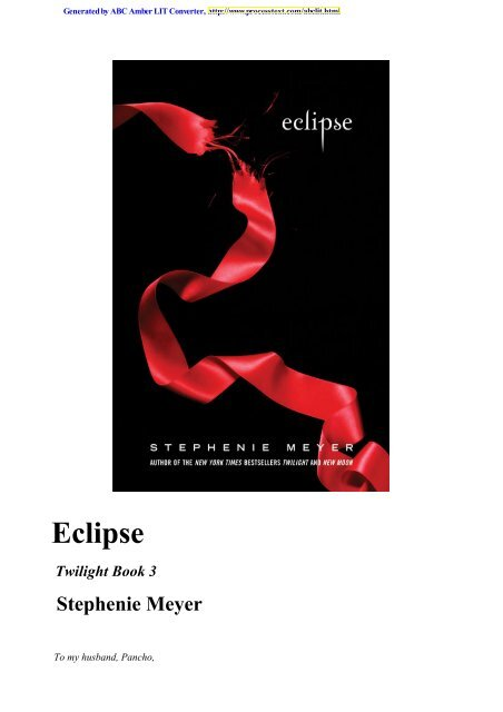 Twilight Vision White Speck That >> Eclipse Twilight Book 3 Stephenie Meyer The Rabbit Run