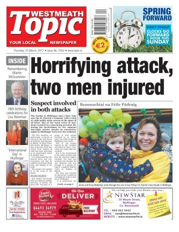 Westmeath Topic - 23 March 2017