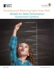 Models for State Performance Assessment Systems