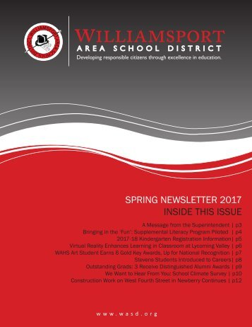 SPRING NEWSLETTER 2017 INSIDE THIS ISSUE