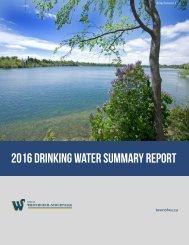 2016 DRINKING WATER SUMMARY REPORT