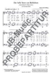 Der helle Stern von Bethlehem (für Männerchor TTBB)