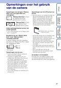 Sony DSC-W190 - DSC-W190 Consignes d'utilisation Néerlandais - Page 3