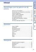 Sony DSC-W190 - DSC-W190 Consignes d'utilisation Néerlandais - Page 4