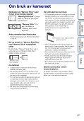 Sony DSC-W190 - DSC-W190 Consignes d'utilisation Norvégien - Page 3