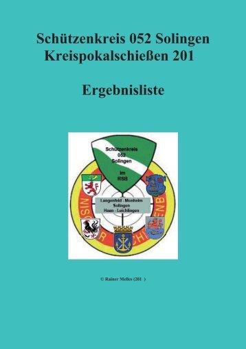 Schützenkreis 052 Solingen Kreispokalschießen 201 ... - skr052.de