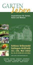 Schloss Grünewald Solingen-Gräfrath 17.– 20. Mai 2012
