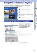Sony DSC-W190 - DSC-W190 Consignes d'utilisation Finlandais - Page 2