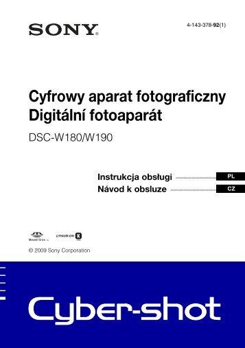 Sony DSC-W190 - DSC-W190 Consignes d'utilisation Tchèque