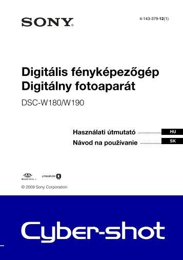 Sony DSC-W190 - DSC-W190 Consignes d'utilisation Hongrois
