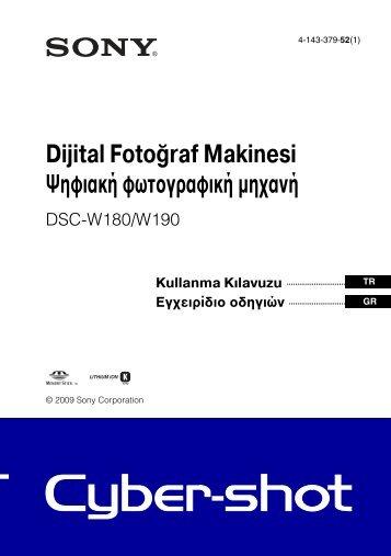 Sony DSC-W190 - DSC-W190 Consignes d'utilisation Grec