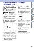 Sony DSC-W190 - DSC-W190 Consignes d'utilisation Roumain - Page 3