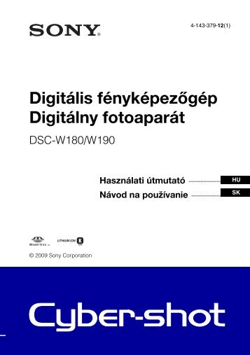 Sony DSC-W190 - DSC-W190 Consignes d'utilisation Slovaque