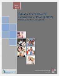 Indiana State Health Improvement Plan (I-SHIP) - State of Indiana