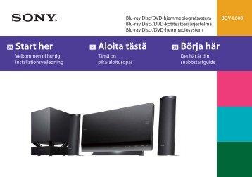 Sony BDV-L600 - BDV-L600 Guida di configurazione rapid Finlandese
