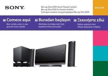 Sony BDV-L600 - BDV-L600 Guida di configurazione rapid Portoghese