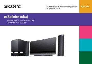 Sony BDV-L600 - BDV-L600 Guida di configurazione rapid Sloveno