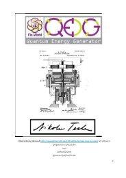 QEG Bauplan Deutsch - Tesla - Quantum Electric Generator