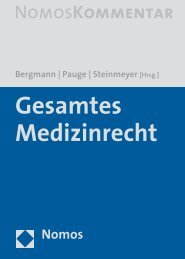 Bergmann Pauge Steinmeyer [Hrsg.] - Zum Nomos-Shop