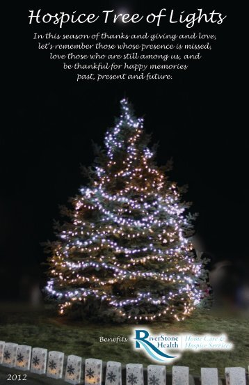 Hospice Tree of Lights - RiverStone Health