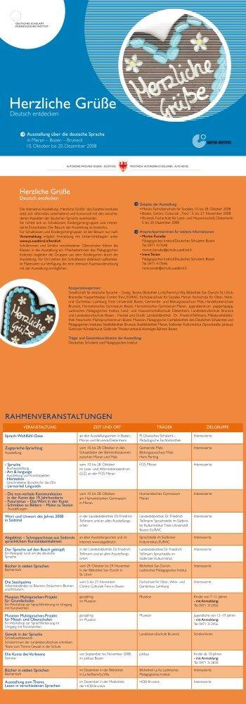 Herzliche Grüße - Kindergarten und Schule in Südtirol