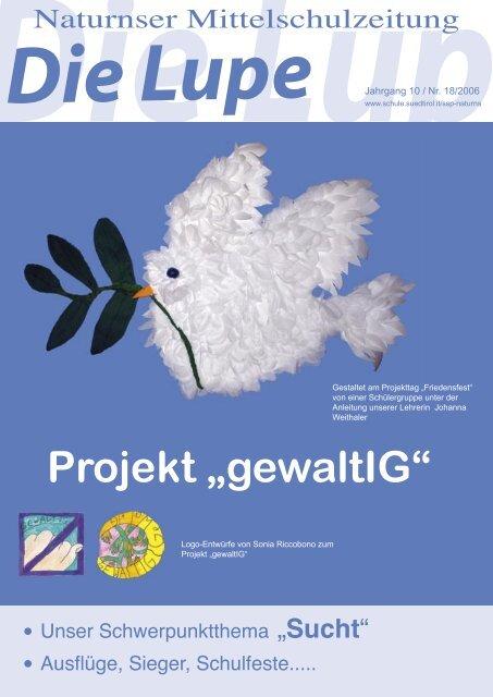 "Projekt ""gewaltIG"" - Kindergarten und Schule in Südtirol"