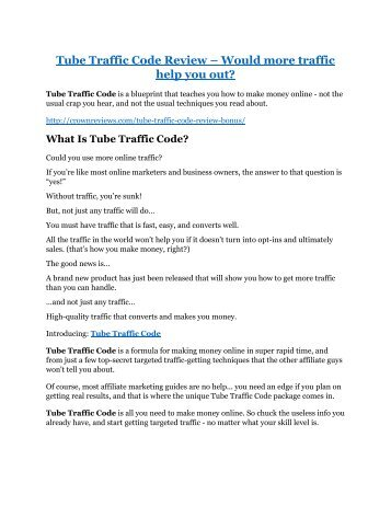 Tube Traffic Code Review - SECRET of Tube Traffic Code