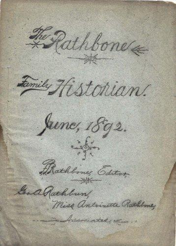 RATHBONE FAlVIILY HISTORIAN.