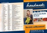 20.-21. Oktober Jahrhunderthalle Bochum - handmade