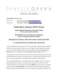 Seattle Opera Announces 2012/13 Season