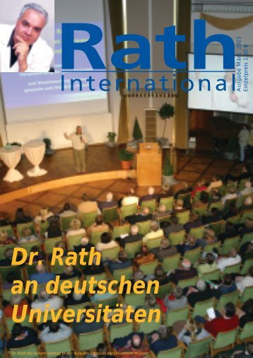 Rath international März - Dr. Rath Gesundheits-Allianz