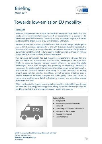 Towards low-emission EU mobility