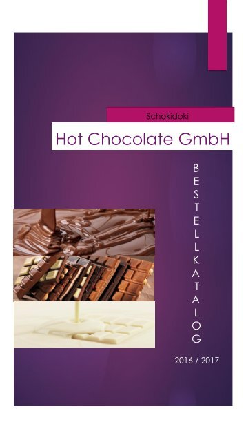 Hot Chocolate GmbH Katalog